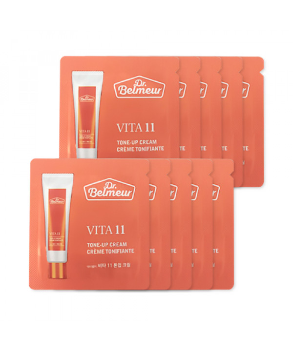 [THE FACE SHOP_Sample] Dr.Belmeur Vita 11 Tone Up Cream Samples - 10pcs