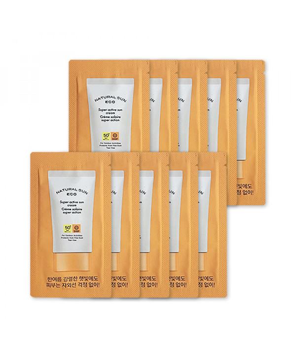 [THE FACE SHOP_Sample] Natural Sun Eco Super Active Sun Cream Samples - 10pcs