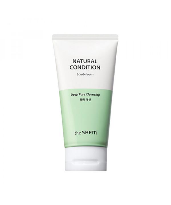 W-[THESAEM] Natural Condition Scrub Foam Deep Pore Cleansing - 150ml x 10ea