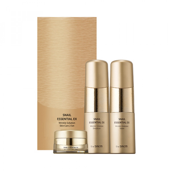[THESAEM] Snail Essential EX Wrinkle Solution Skin Care 2 Set - 1pack (3items)