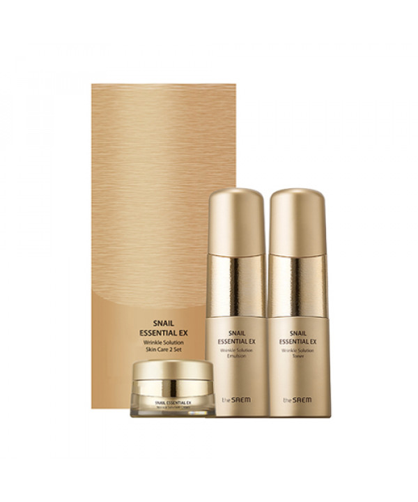 [THESAEM] Snail Essential EX Wrinkle Solution Skin Care 2 Set - 1pack (3items)