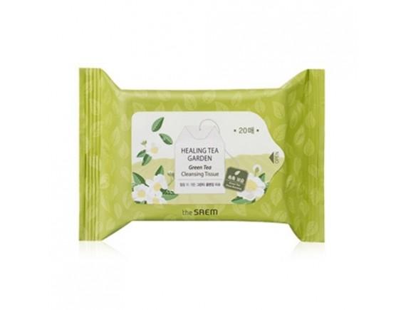[THESAEM] Healing Tea Garden Green Tea Cleansing Tissue - 1pack (20pcs)