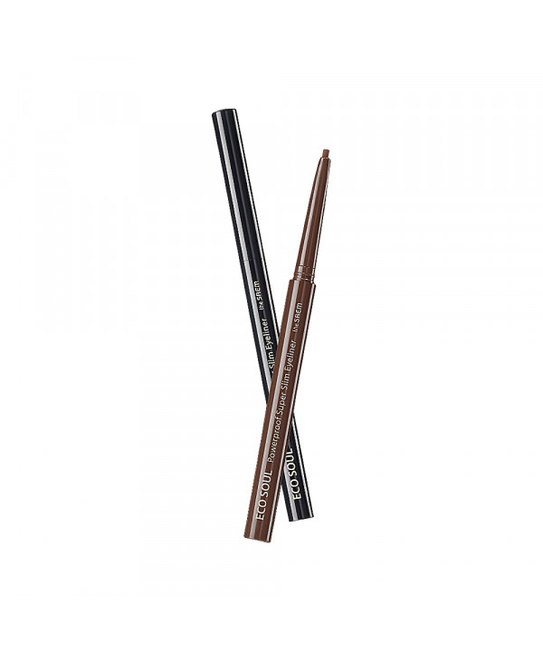 W-[THESAEM] Eco Soul Powerproof Super Slim Eyeliner - 0.1g x 10ea