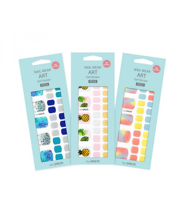 [THESAEM] Nail Wear Art Gel Sticker Pedi - 1pack (32pcs)