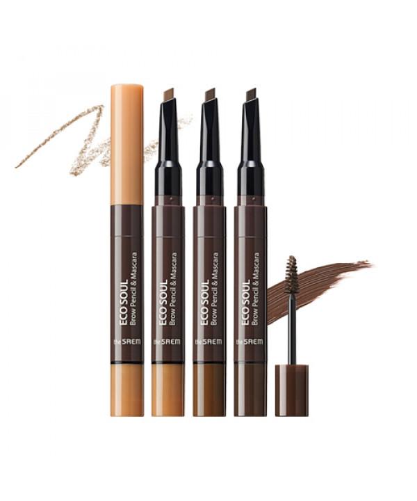 W-[THESAEM] Eco Soul Brow Pencil & Mascara - 0.2g+2.5ml x 10ea