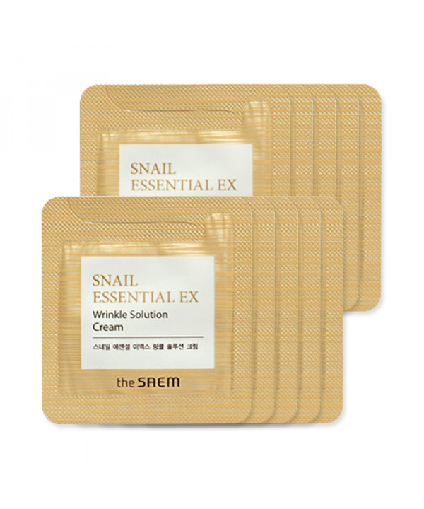 [THESAEM_Sample] Snail Essential EX Wrinkle Solution Cream Samples - 10pcs