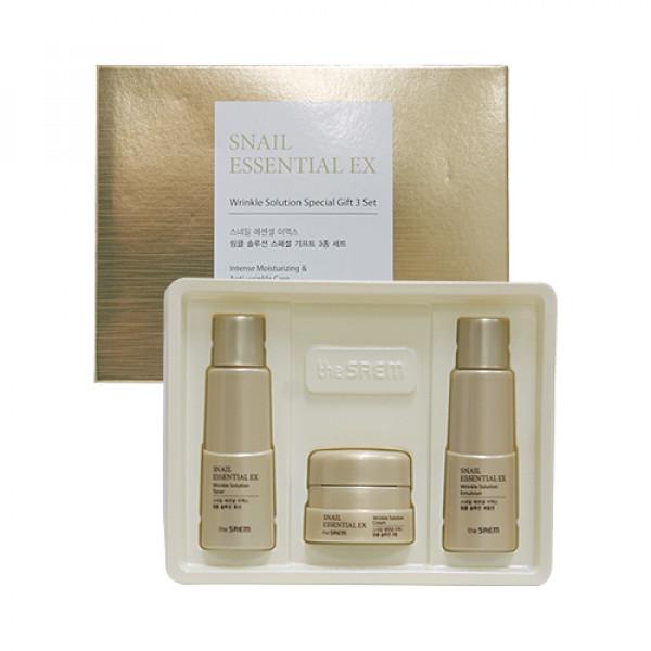 [THESAEM_Sample] Snail Essential EX Wrinkle Solution Special Gift 3 Set Samples - 1pack (3ea)
