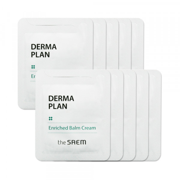 [THESAEM_Sample] Derma Plan Enriched Balm Cream Samples - 10pcs