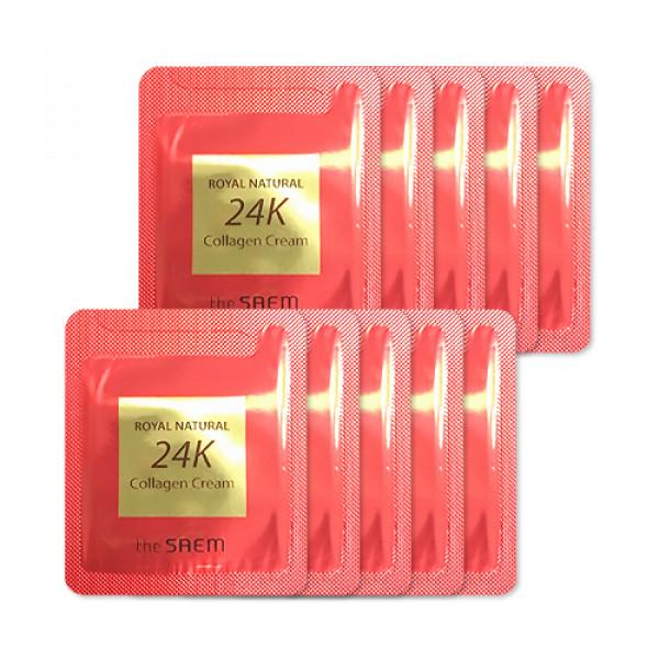 [THESAEM_Sample] Royal Natural 24K Collagen Cream Samples - 10pcs