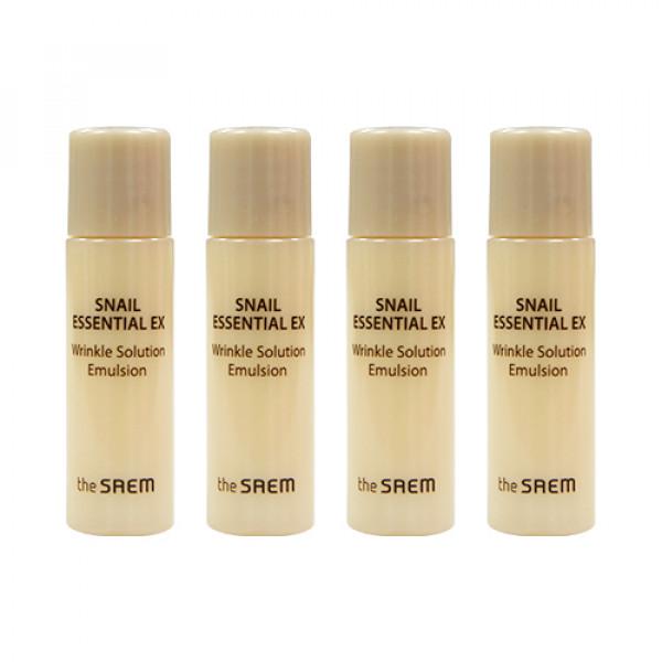 [THESAEM_Sample] Snail Essential EX Wrinkle Solution Emulsion Samples (2020) - 4ea