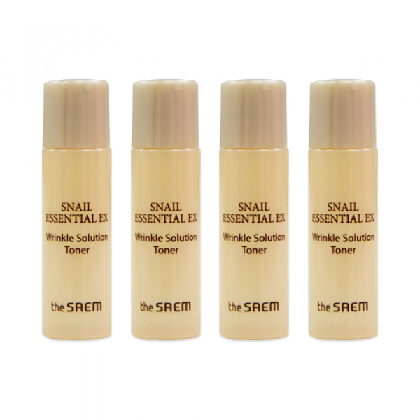 [THESAEM_Sample] Snail Essential EX Wrinkle Solution Toner Samples (2020) - 4ea
