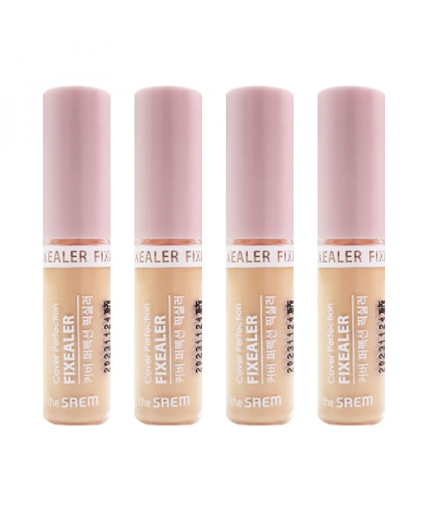 [THESAEM_Sample] Cover Perfection Fixealer Samples - 1ml x 4ea (SPF30 PA++) No.01 Clear Beige
