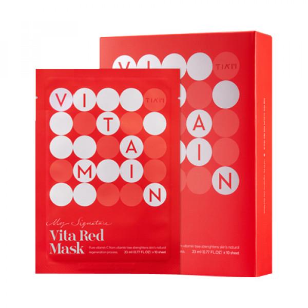 [TIA'M] My Signature Vita Red Mask - 1pack (10pcs)