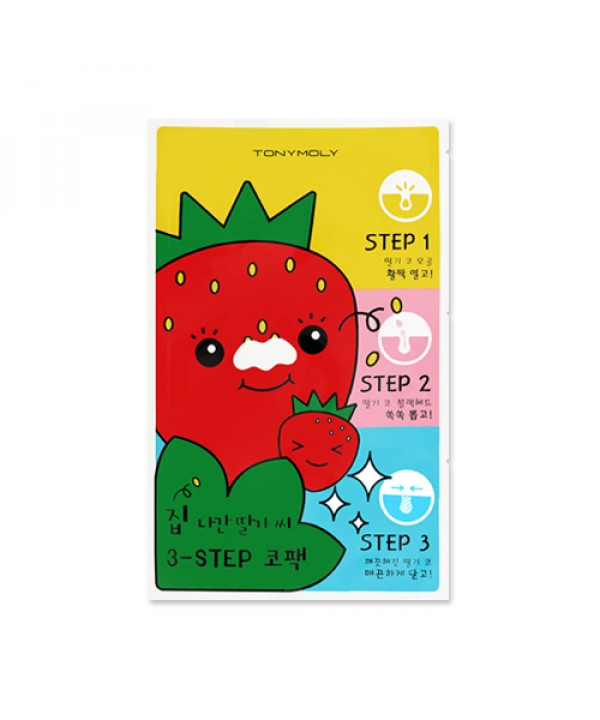 [TONYMOLY] Runaway Strawberry Seeds 3 Step Nose Pack - 1pcs