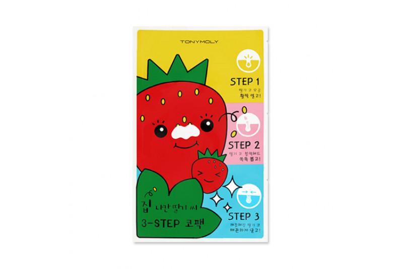 [TONYMOLY] Runaway Strawberry Seeds 3 Step Nose Pack - 1pcs