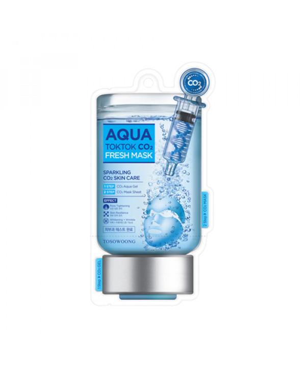 [TOSOWOONG_60% SALE] Aqua Tok Tok CO2 Fresh Mask - 1pack (5pcs)