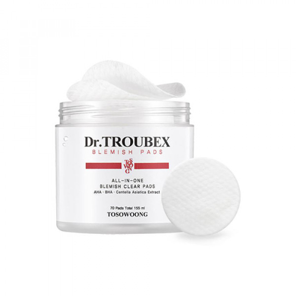 [TOSOWOONG] Dr.Troubex All In One Blemish Clear Pads - 1pack (70pcs)