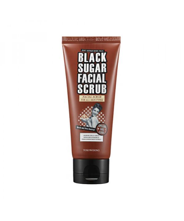 [TOSOWOONG] Black Sugar Facial Scrub - 100ml