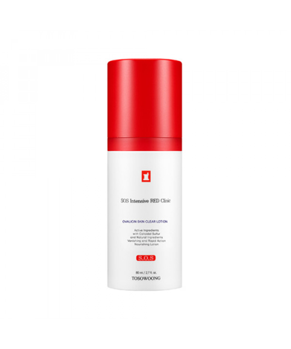 [TOSOWOONG_LIMITED] SOS Intensive Red Clinic Ovalicin Skin Clear Lotion - 80ml (EXP 2022.01.02)