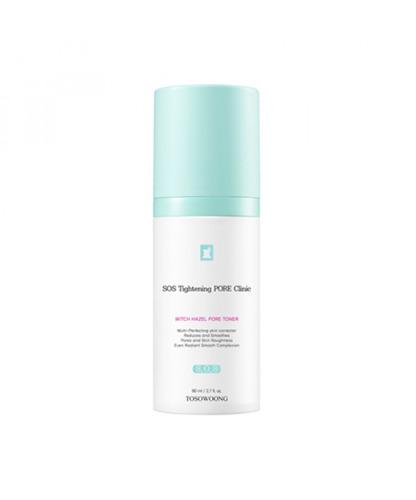[TOSOWOONG] SOS Tightening Rore Clinic Witch Hazel Pore Toner - 80ml