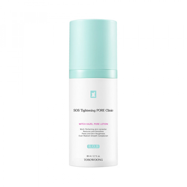 [TOSOWOONG] SOS Tightening Pore Clinic Witch Hazel Pore Lotion - 80ml
