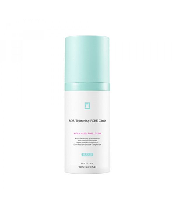 [TOSOWOONG_LIMITED] SOS Tightening Pore Clinic Witch Hazel Pore Lotion - 80ml (EXP 2021.05.03)