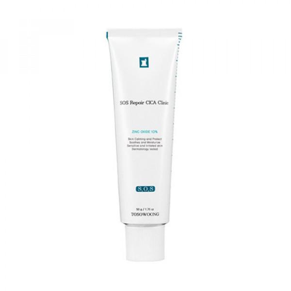 [TOSOWOONG] SOS Repair Cica Clinic Zinc Oxide 10% Cream - 50g