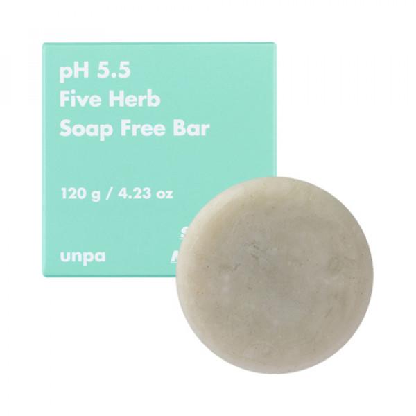 [UNPA] pH5.5 Five Herb Soap Free Bar - 120g
