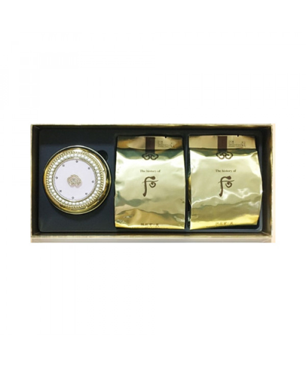 [THE WHOO] Gongjinhyang Mi Luxury Golden Cushion Special Set - 1pack (15g+Refill 2pcs) No.21
